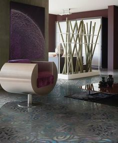 Decorating with Tile Floors: Patterned Floor Tiles     Fashionably chic idea from Petracer, Italy.