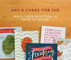 I LOVE HER WORK! Emily McDowell Illustrated Cards | Etsy