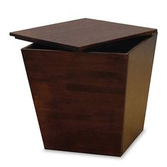 Winsome 94418 Mesa Storage Cube End Table in Antique Walnut $94