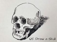 Draw a skull - Sketchbook Idea #65