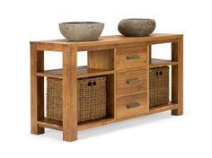 Badmöbel Waschtisch Waschbeckenunterschrank massiv Holz Möbel neu MASJA kaufen bei Hood.de