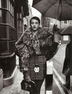 Honor Fraser by Steven Meisel for Vogue UK, 1993    Styled by Isabella Blow