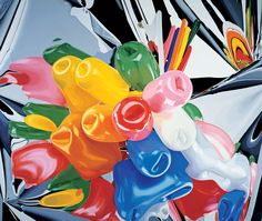 Jeff Koons, Tulips, 1995–98. Oil on canvas; 111 3⁄8 × 131 in. (282.9 × 332.7cm). Private collection. © Jeff Koons