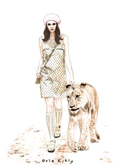 Orla Kiely - Amelia's Magazine | @Órla Nugent Kiely : London Fashion Week S/S 2014 Presentation Review - Illustration by @Laura Jayson Jayson Hickman #OrlaKiely #LFW #Safari