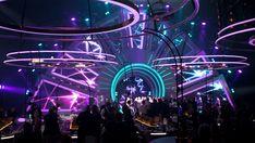 Corporate stage set on Behance Concert Stage Design, Stage Set Design, Maxon Cinema 4d, Stage Lighting, Autocad, Behance