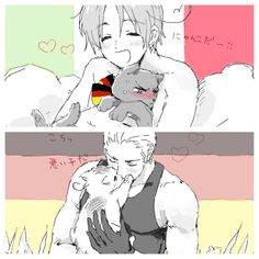 Oh my Germany looks so hot all manly cuddling with a kitty << You mean gay.. I should stop