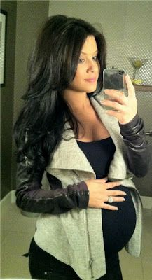 Love the hair and style when having a baby bump #baby #mom #pregnant
