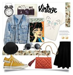 """""""vintage day"""" by ferreirabruna ❤ liked on Polyvore featuring Runwaydreamz, Pier 1 Imports, Converse, Chanel, Tiffany & Co., vintage, polyvoreeditorial and polivore"""