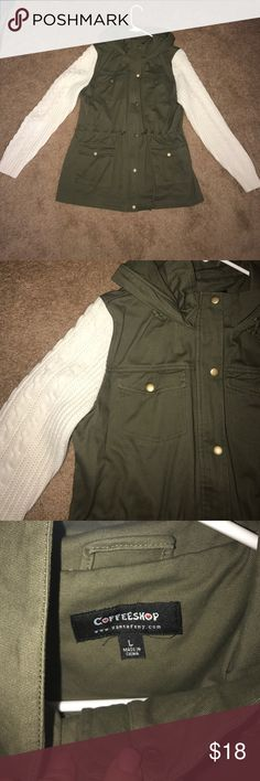 NWOT Green Cargo Jacket Brand new. No tags. Jackets & Coats Utility Jackets