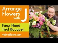 """J has """"wow-ed"""" audiences around the globe with his amazing rendition of a hand tied bouquet. that ISN'T REALLY a hand tied bouquet at all! Cascading Wedding Bouquets, Diy Wedding Bouquet, Deco Floral, Arte Floral, Floral Design, Easter Flower Arrangements, Floral Arrangements, Faux Flowers, Silk Flowers"""