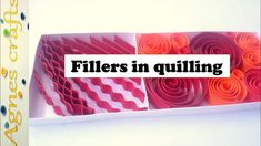 This video explains few ways of quilling fillers. Fillers are the quilling elements those are used to fill up a space in a quilling work. Quilling Comb, Neli Quilling, Quilling Craft, Quilling Ideas, Quiling Paper Art, 3d Paper Art, Paper Crafts, Diy Crafts, Paper Quilling For Beginners
