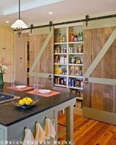 Barn door pantry by mystra by patrica