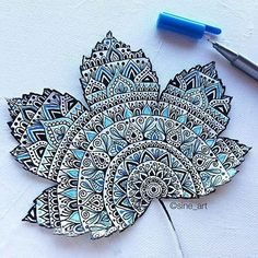 Mandala leaf by @sine_art Her works are so amazing, if you're not following her you definitely should
