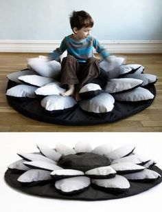 Lotus flower bean bag