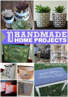 10 Handmade Home Projects | OHMY-CREATIVE.COM