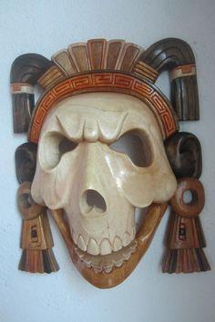 Made To Order Mayan Aztec  Death  Warrior classic  Headdress Mayan Mask Large Huge Chichen Itza Artisan
