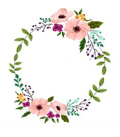 Blumenkranz Vorlage How to Budget for Home Improvements Home improvement projects often scare people Frame Floral, Flower Frame, Wreath Watercolor, Watercolor Flowers, Embroidery Patterns, Hand Embroidery, Wreath Drawing, Flower Circle, Deco Floral