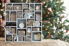 Craft a Christmas advent calendar one that will become a real treasure in the years to come. Use one of our Fun Christmas Crafts With 50 Great Homemade Advent Calendars Ideas and have some fun. Adult Advent Calendar, Advent Calander, Homemade Advent Calendars, Advent Calendars For Kids, Wooden Advent Calendar, Countdown Calendar, Advent Calendar Ideas For Adults, Christmas Countdown, Days To Christmas