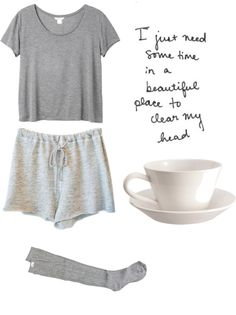"""gray morning"" by renachanxoxo ❤ liked on Polyvore"