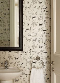 24 Pup-Inspired Home Decor Ideas That Are Doggone Classy Dog decor house for dog. 24 Pup-Inspired Home Decor Ideas That Are Doggone Classy Dog decor house for dogs Salon Design, Home Design, Design Ideas, Dog Grooming Salons, Dog Grooming Shop, Dog Grooming Business, Mid Century Bathroom, Dog Wallpaper, Wallpaper Patterns