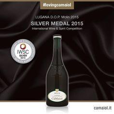 Lugana D.O.P. Molin 2014 win Silver Medal at International Wine & Spirit Competition.  #lovingcamaiol  www.camaiol.it  #wine #vino #food #lugana #camaiol #instawine #luganalovers #gtwine #sommelier #degustazione #vineyard #winetasting #luganadop #italianw