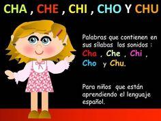 CHA , CHE , CHI , CHO Y CHU EN LAS PALABRAS - LECCIONES PARA NIÑOS - ESPAÑOL PARA TODOS - YouTube