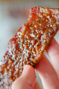 Praline Bacon!  Would make a great appetizer for your next dinner party.