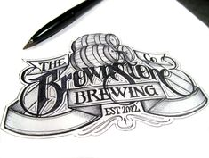 beautiful, Calligraphy, design, drawing, Examples, hand lettered, Inspiration, typography,Beer Labels