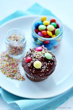 Candy Cupcakes by Plate of Joy