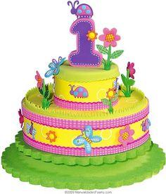 ARTE COM QUIANE - Paps,Moldes,E.V.A,Feltro,Costuras,Fofuchas 3D: Molde e passo-a-passo: Falso bolo em e.v.a