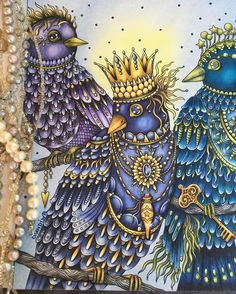 The three king birdsof#magiskgryning from #hannakarlzon #magiskgryningmålarbok #hannakarlzondagdrömmar #hannakarlzonsommarnatt #hannakarlzonmagiskgryning #loveart #bremenprojetos #polychromos #polychromospencils #staedtler #staedtlerpens #rembrandtpastels #pittpastel #divasdasartes #bayan_boyan #coloringbook #coloringtherapy #coloringforadults #coloring_secrets #coloringbooks #coloringpencils #coloringoninstagram #colorindolivrostop #colorindooinstagram #colorindomeujardimencantad #colo...
