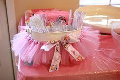 Princess tutu silverware bucket! Disney princess party!