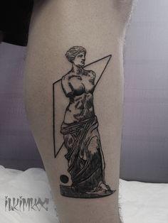 Sculpture torso tattoo #blackwork #sculpture #torso #tattoo
