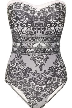 lace print swimsuit