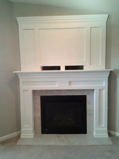 fireplace mantels with tv above bing images