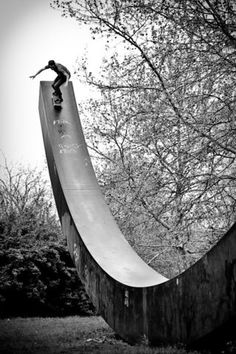 Art meets half-pipe.