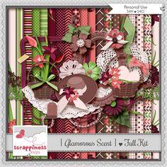 Glamorous Scent | Digital Scrapbpook Kit | Scrapbook Digital | Scrapbook | Imagens Digitais | PU/S4H/S4O