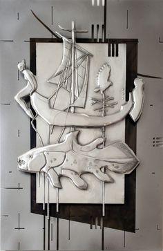 The Deep  400 x 600 mm Unknown Pewter, Mild Steel, Etching Artist Martie Bitzer