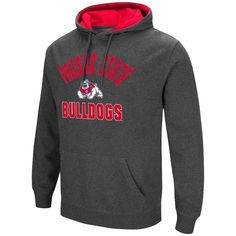Men's Campus Heritage Fresno State Bulldogs Pullover Hoodie, Size: Large, Light Grey