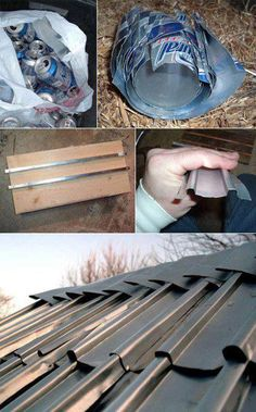 DIY Beer Can Shingles - shtf, homesteading, survival, Or pop cans! Homestead Survival, Camping Survival, Survival Prepping, Survival Skills, Emergency Preparedness, Survival Food, Emergency Power, Survival Shelter, Survival Quotes