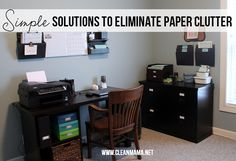 Tidy up your paper piles with minimal time for maximum result. Simple Solutions to Eliminate Paper Clutter via Clean Mama