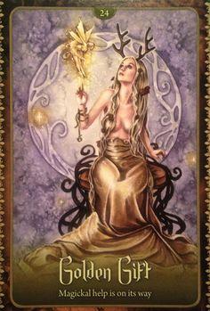 Bài viết Lá Golden Gift - Wild Wisdom of The Faery Oracle bài tarot Angel Guidance, Angel Cards, Oracle Cards, Fairy Art, Fantasy Artwork, Illustrations, Faeries, Magick, Wicca