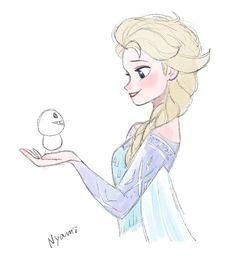 Elsa & a Snowgie