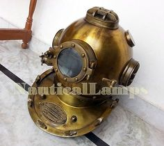 """Old antique divers diving #helmet 18"""" #scuba us navy mark v #reproduction replica,  View more on the LINK: http://www.zeppy.io/product/gb/2/332060871576/"""