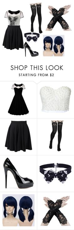 """""""Random idea from a music video"""" by courts123456781 ❤ liked on Polyvore featuring Boohoo and Giuseppe Zanotti"""