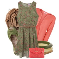 Floral Dipped Hem Dress by angiejane on Polyvore