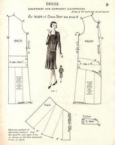 sewing pattern 1920's
