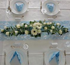 Gry`s lille hjørne: Slik lager du borddekorasjoner Christening, Floral Wreath, Baby Shower, Table Decorations, Wedding, Furniture, Home Decor, Ideas, Creative