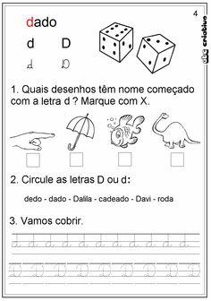 ATIVIDADES DE EDUCAÇÃO INFANTIL  E MUSICALIZAÇÃO INFANTIL: Atividades LETRA D