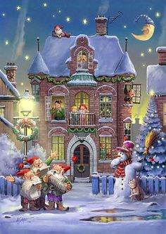 This makes me think of being a child at Christmas. Such Christmas Joy. Christmas Scenes, Christmas Past, Christmas Images, Christmas Greetings, Winter Christmas, Xmas, Christmas Glitter, Winter Snow, Animated Christmas Pictures